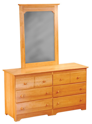 Atlantic Furniture Dresser & Mirror - Natural