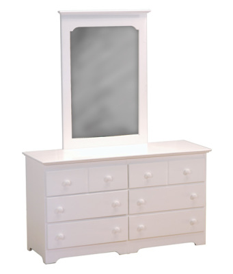 Atlantic Furniture Dresser & Mirror - White