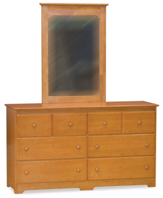 Atlantic Furniture Dresser & Mirror - Caramel Latte
