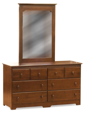 Atlantic Furniture Dresser & Mirror - Antique Walnut
