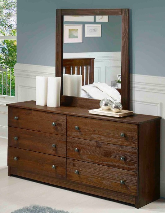 Innovations - Chestnut - Dresser & Mirror