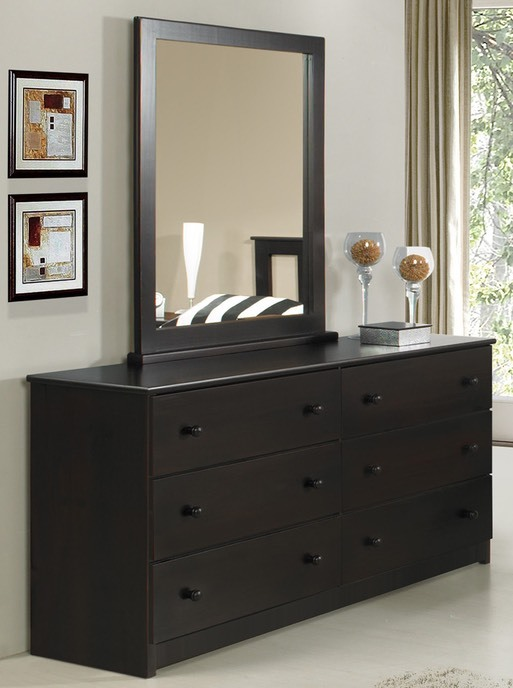 Innovations - Espresso Dresser & Mirror