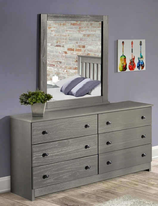 Innovations - Gray Dresser & Mirror