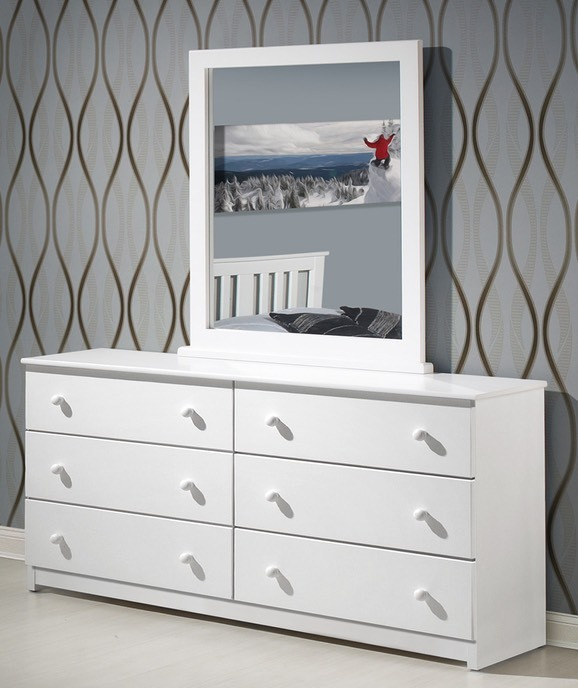 Innovations - White Dresser & Mirror