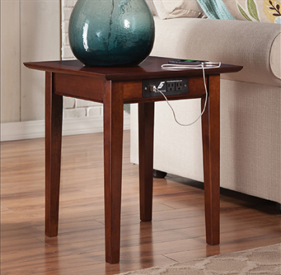 Atlantic Furniture - Shaker Charging End Table