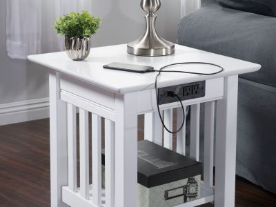 Atlantic Furniture - Mission Charging End Table