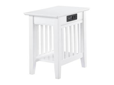 Atlantic Furniture - Mission Charging Chairside End Table