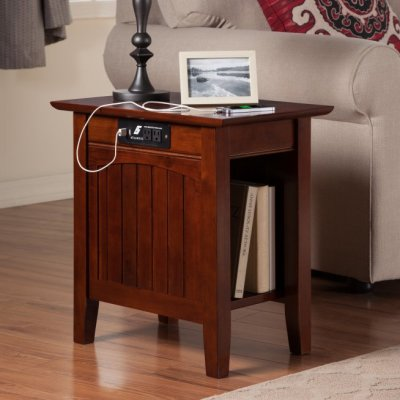 Atlantic Furniture - Cottage Charging Chairside End Table