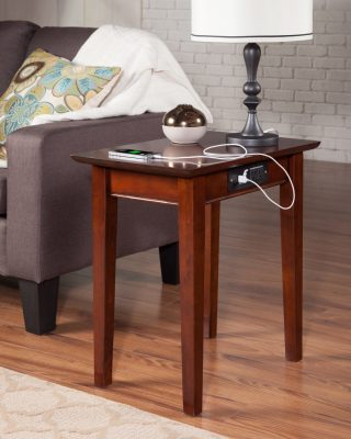 Atlantic Furniture - Shaker Charging Chairside End Table